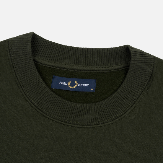 Мужская толстовка Fred Perry Archive Branding Embroidered Hunting Green