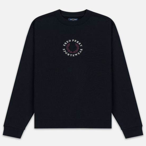 Мужская толстовка Fred Perry Archive Branding Embroidered Navy