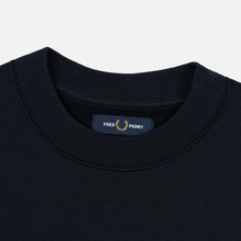 Мужская толстовка Fred Perry Archive Branding Embroidered Navy фото- 1