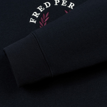 Мужская толстовка Fred Perry Archive Branding Embroidered Navy фото- 3