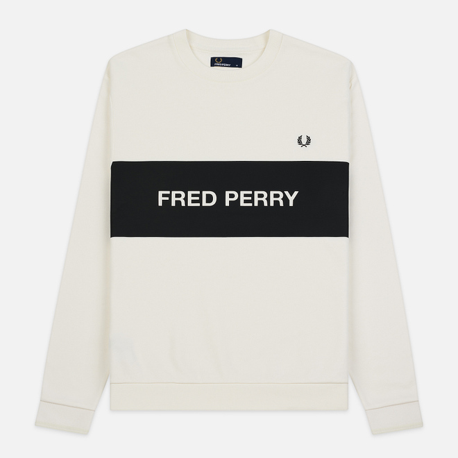 Мужская толстовка Fred Perry Chest Printed Panel Snow White