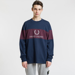 Мужская толстовка Fred Perry Contrast Panel Mahogany фото- 1