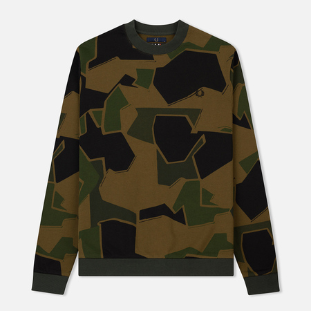 Мужская толстовка Fred Perry Crew Neck Arktis Woodland Camo