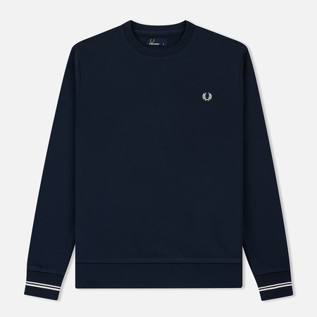Мужская толстовка Fred Perry Crew Neck Washed Navy