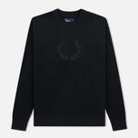 Мужская толстовка Fred Perry Embroidered Crew Neck Fleece Black фото- 0