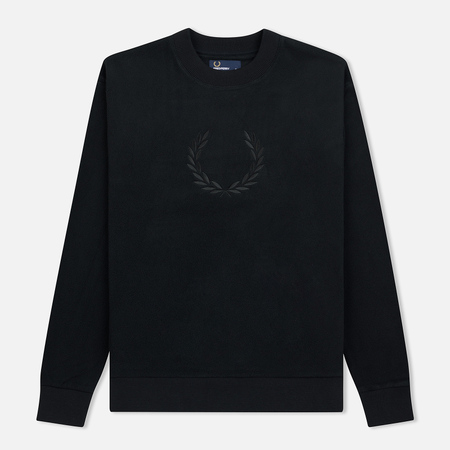 Мужская толстовка Fred Perry Embroidered Crew Neck Fleece Black