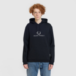 Мужская толстовка Fred Perry Embroidered Hooded Black фото- 1