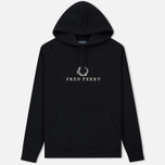 Мужская толстовка Fred Perry Embroidered Hooded Black фото- 0