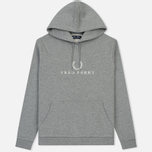 Мужская толстовка Fred Perry Embroidered Hooded Steel Marl фото- 0