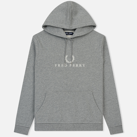 Мужская толстовка Fred Perry Embroidered Hooded Steel Marl