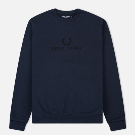 Мужская толстовка Fred Perry Embroidered Logo Washed Navy
