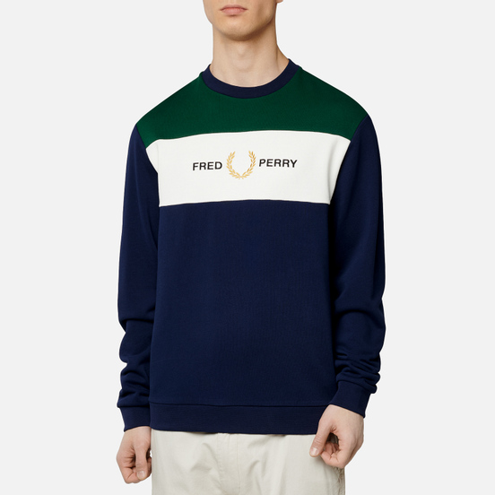 Мужская толстовка Fred Perry Embroidered Panel Carbon Blue