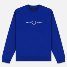 Мужская толстовка Fred Perry Graphic Bright Regal фото- 0