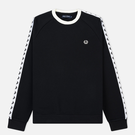 Мужская толстовка Fred Perry Laurel Taped Crew Neck Black