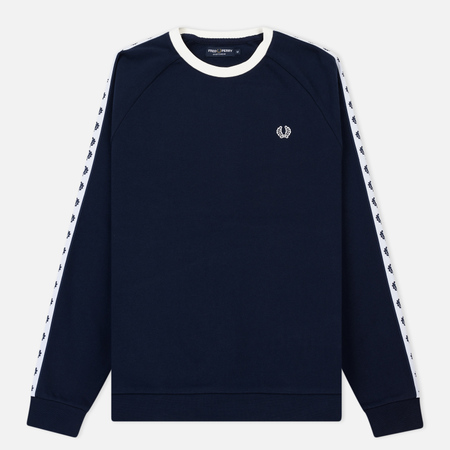 Мужская толстовка Fred Perry Laurel Taped Crew Neck Carbon Blue