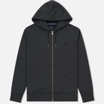 Мужская толстовка Fred Perry Loopback Hooded Graphite Marl фото- 0