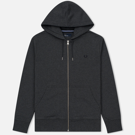 Мужская толстовка Fred Perry Loopback Hooded Graphite Marl