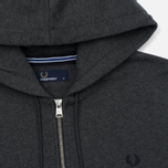 Мужская толстовка Fred Perry Loopback Hooded Graphite Marl фото- 1