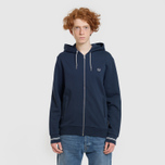 Мужская толстовка Fred Perry Loopback Hooded Washed Navy фото- 1