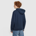 Мужская толстовка Fred Perry Loopback Hooded Washed Navy фото- 3