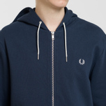 Мужская толстовка Fred Perry Loopback Hooded Washed Navy фото- 2