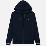 Мужская толстовка Fred Perry Loopback Hooded Washed Navy фото- 0