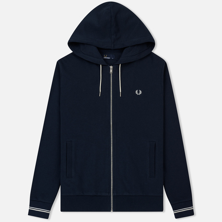 Мужская толстовка Fred Perry Loopback Hooded Washed Navy