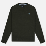 Мужская толстовка Fred Perry Loopback Neck British Racing Green фото- 0