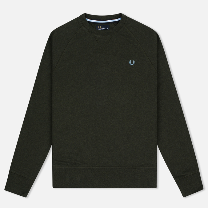 Мужская толстовка Fred Perry Loopback Neck British Racing Green