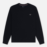 Мужская толстовка Fred Perry Loopback Neck Navy фото- 0