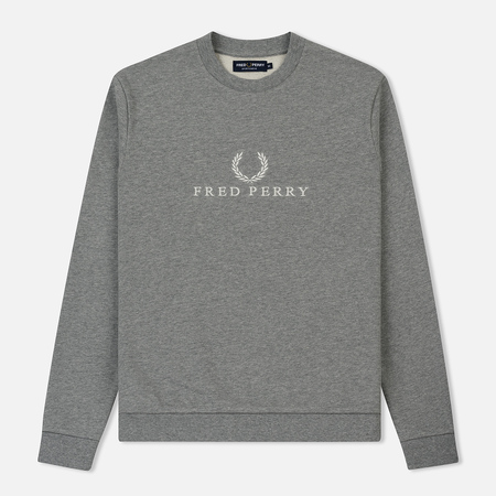Мужская толстовка Fred Perry Monochrome Tennis Steel Marl