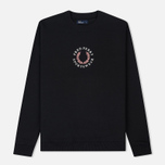 Мужская толстовка Fred Perry Oversized Archive Branding Embroidered Black фото- 0