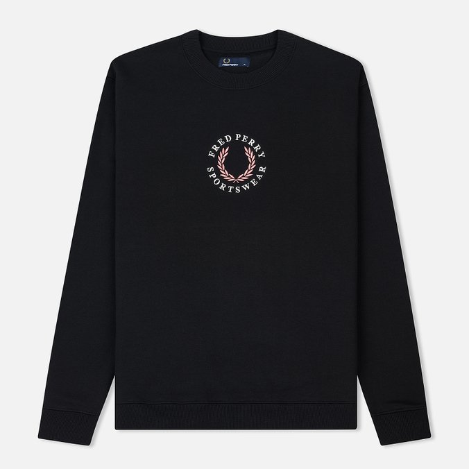 Мужская толстовка Fred Perry Oversized Archive Branding Embroidered Black