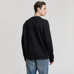 Мужская толстовка Fred Perry Oversized Archive Branding Embroidered Black фото- 2