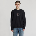 Мужская толстовка Fred Perry Oversized Archive Branding Embroidered Black фото- 1