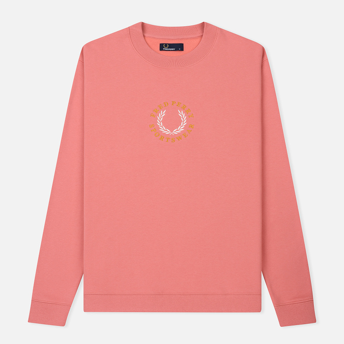 Мужская толстовка Fred Perry Oversized Archive Branding Embroidered Peach Blossom