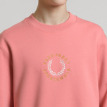 Мужская толстовка Fred Perry Oversized Archive Branding Embroidered Peach Blossom фото- 3