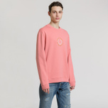 Мужская толстовка Fred Perry Oversized Archive Branding Embroidered Peach Blossom фото- 1