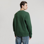 Мужская толстовка Fred Perry Oversized Archive Branding Embroidered Tartan Green фото- 2