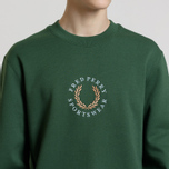 Мужская толстовка Fred Perry Oversized Archive Branding Embroidered Tartan Green фото- 3