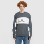 3a62ab6c Мужская толстовка Fred Perry Panel Piped Charcoal Marl M4553-948