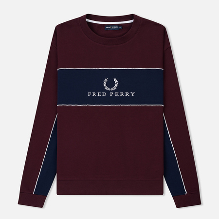 Мужская толстовка Fred Perry Panel Piped Mahogany