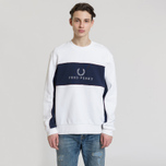 Мужская толстовка Fred Perry Panel Piped White фото- 1