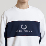 Мужская толстовка Fred Perry Panel Piped White фото- 4