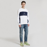 Мужская толстовка Fred Perry Panel Piped White фото- 3