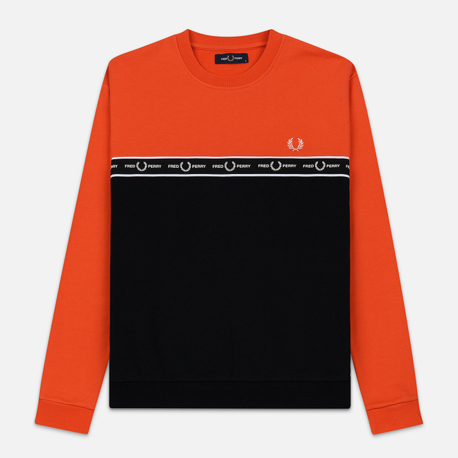 Мужская толстовка Fred Perry Taped Chest International Orange