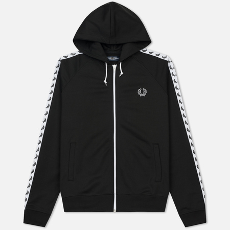Мужская толстовка Fred Perry Taped Hooded Track Black