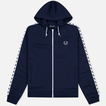 Мужская толстовка Fred Perry Taped Hooded Track Carbon Blue