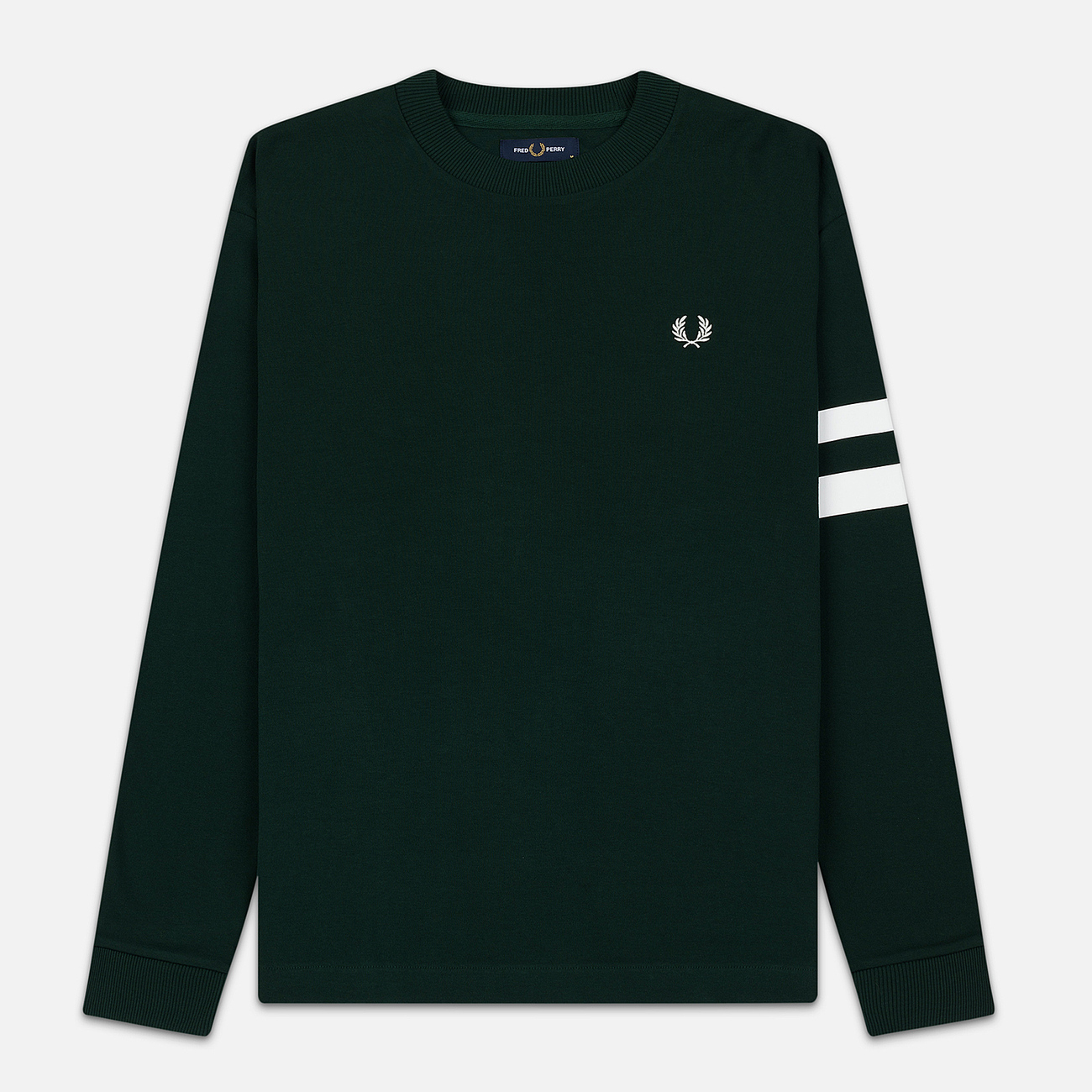 Мужская толстовка Fred Perry Tipped Sleeve Evergreen