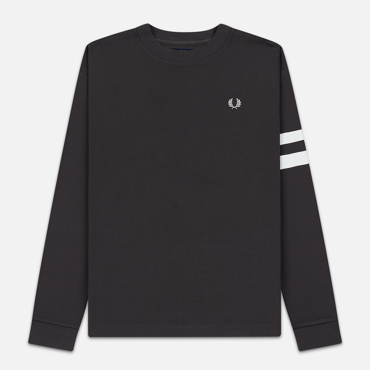 Мужская толстовка Fred Perry Tipped Sleeve Gunmetal